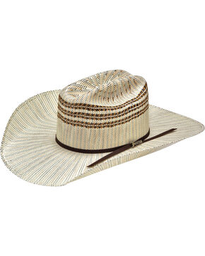 Twister Men's Tan/Ivory/Brown Bangora Cowboy Hat, Ivory, hi-res