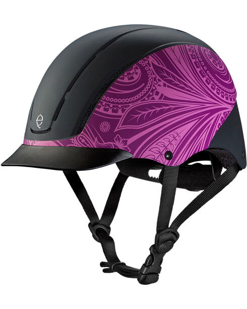 Troxel Women's Spirit Boho Low Profile Helmet, Purple, hi-res