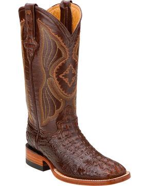 Ferrini Women's Hornback Caiman Crocodile Western Boots, Rust, hi-res