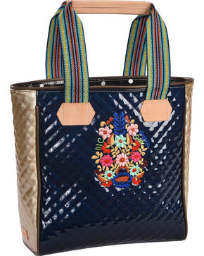 Consuela Women's Navy Felicia Quilted Classic Tote , Navy, hi-res