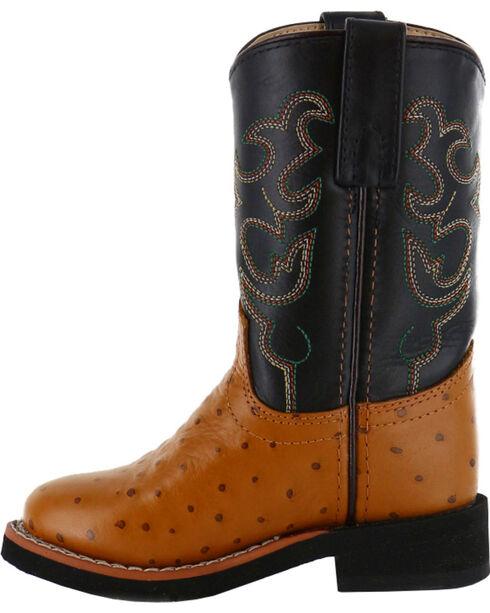 Cody James® Children's Ostrich Print Western Boots, Cognac, hi-res