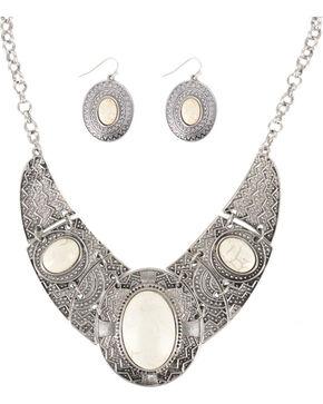 Shyanne® Women's Aztec Inspired Jewelry Set, Cream, hi-res