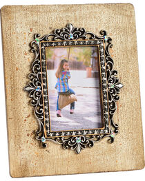 HiEnd Accents Silver Scroll & Bling 4x6 Photo Frame, , hi-res