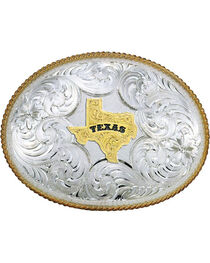 Montana Silversmiths Twisted Rope Texas Belt Buckle, , hi-res