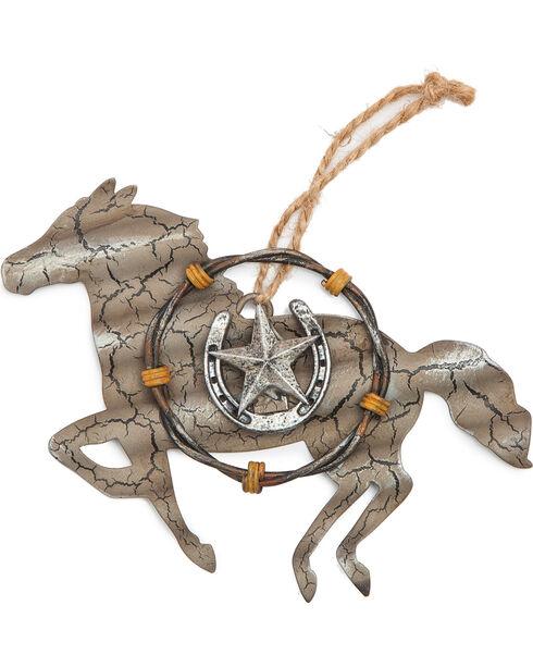 BB Ranch Galvanized Metal Horse Ornament , No Color, hi-res