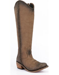 Liberty Black Women's Beige Vegas Tall Boots - Round Toe , , hi-res