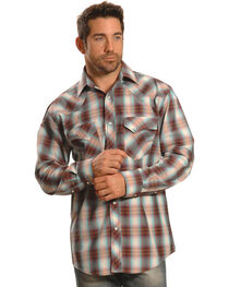 Crazy Cowboy Men's Plaid Heavy Stitch Western Snap Shirt , , hi-res