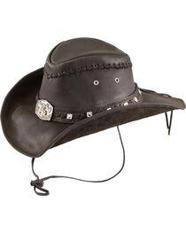 Bullhide Men's Thunder Struck Leather Hat, , hi-res