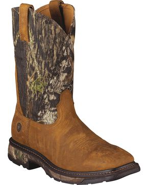 "Ariat Men's Workhog 11"" Square Toe Work Boots, Tan, hi-res"