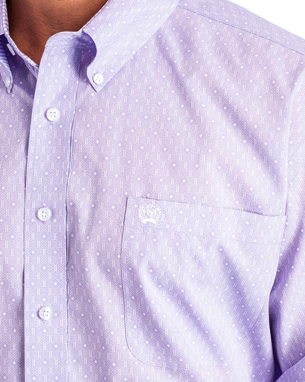 Cinch Men's Light Purple Print Long Sleeve Button Down Shirt, Light Purple, hi-res