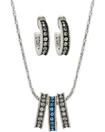 Montana Silversmiths Women's Rhinestone Charm Necklace Set, , hi-res