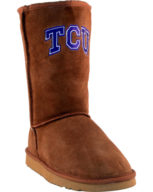 Gameday Boots Women's Texas Christian University Lambskin Boots, Tan, hi-res