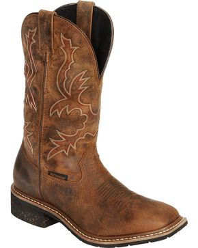 Dan Post Men's Nogales Waterproof Western Work Boots, Tan, hi-res