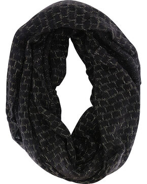 Shyanne® Women's Glitter Infinity Scarf Gift with Purchase, Black, hi-res