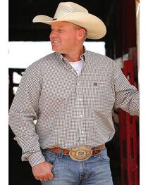 Cinch Men's Cream Long Sleeve Plaid Shirt , , hi-res