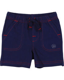 Wrangler Infant Boys' Navy Drawstring Knit Shorts, , hi-res