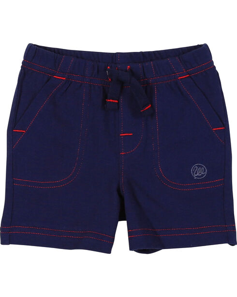 Wrangler Infant Boys' Navy Drawstring Knit Shorts, Navy, hi-res