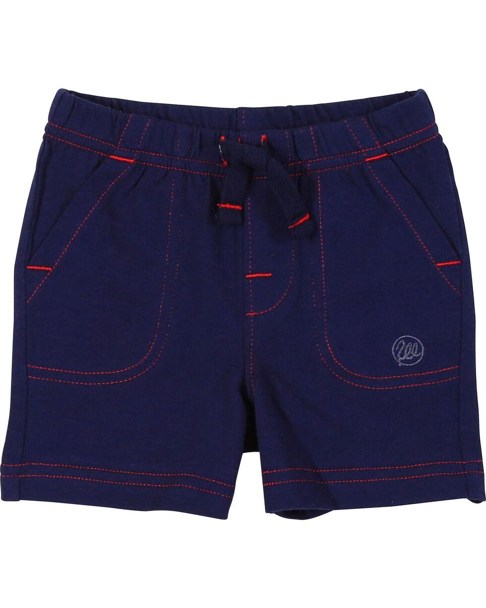 Wrangler Infant/Toddler Boys' Navy Drawstring Knit Shorts (12-24 mo.), , hi-res