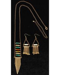 Blazin Roxx Women's Fringe Trendy Jewelry Set , , hi-res