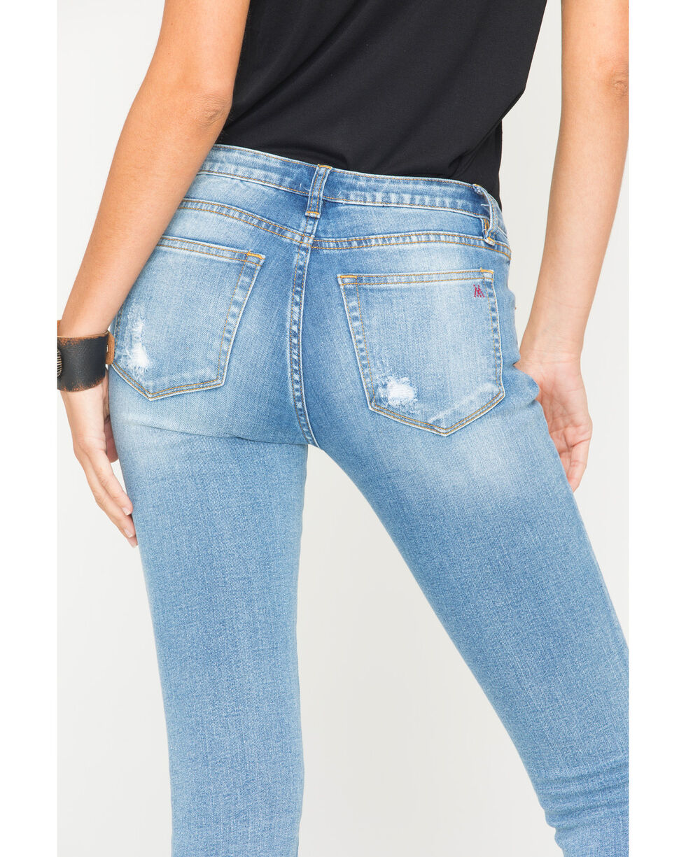 MM Vintage Women's Gisele Skinny Jeans, Indigo, hi-res