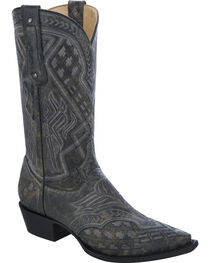 Corral Men's Embroidered Snip Toe Western Boots, , hi-res