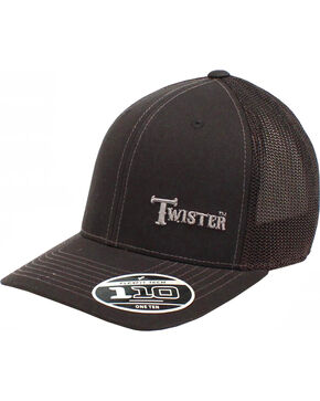 Twister Men's Black Offset Text Baseball Cap , Black, hi-res