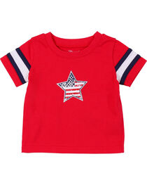 Wrangler Infant Boys' Red Star Short Sleeve Tee, , hi-res