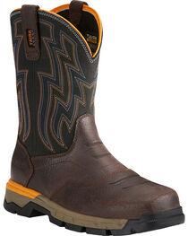 Ariat Men's Rebar Flex Brown Western Work Boots - Soft Toe, , hi-res