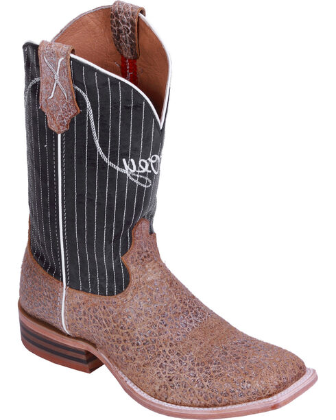 """HOOey By Twisted X Men's Striped Horseman 12"""" Western Boots, Camel, hi-res"""