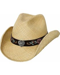 Bullhide Kid's Crazy For You Straw Hat, , hi-res
