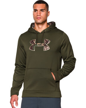 Under Armour Men's UA Storm Caliber Water-Resistant Camo Hoodie, Camouflage, hi-res