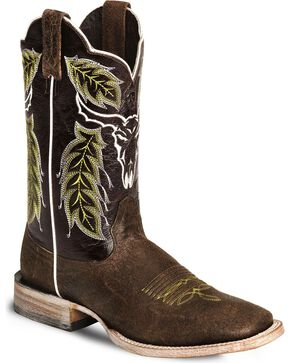 Ariat Men's Outlaw Punchy Western Boots, Brown, hi-res