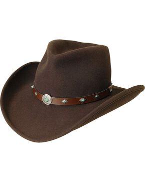 Silverado Fancy Pinch Front Crushable Wool Cowboy Hat, Chocolate, hi-res