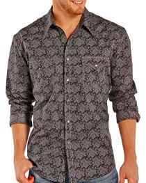 Rock & Roll Cowboy Men's Paisley Patterned Long Sleeve Shirt, , hi-res