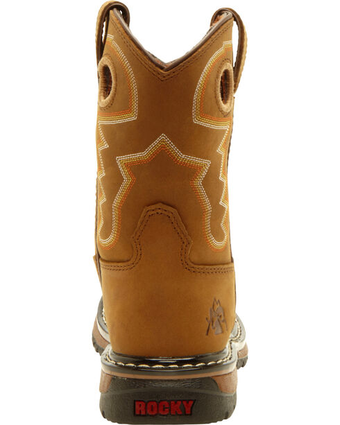 Rocky Kid's Branson Roper Western Boots, Tan, hi-res
