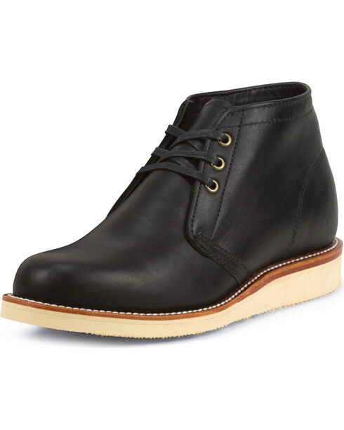 Chippewa Men's 1955 Original Modern Suburban Black Boots - Round Toe, Black, hi-res