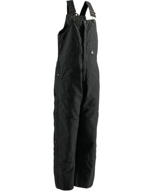 Berne Men's Black Deluxe Insulated Bib Overalls - Tall, Black, hi-res