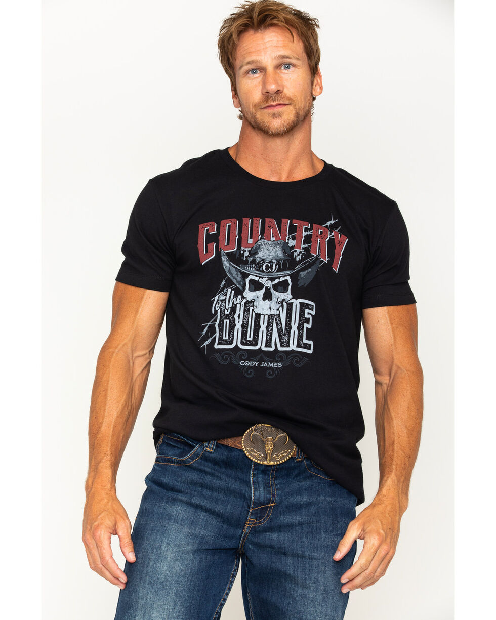Cody James Men's Country To The Bone T-Shirt, Black, hi-res