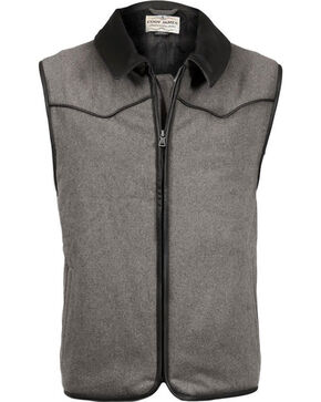 Cody James Men's Riffleman Insulated Wool Vest, Charcoal Grey, hi-res