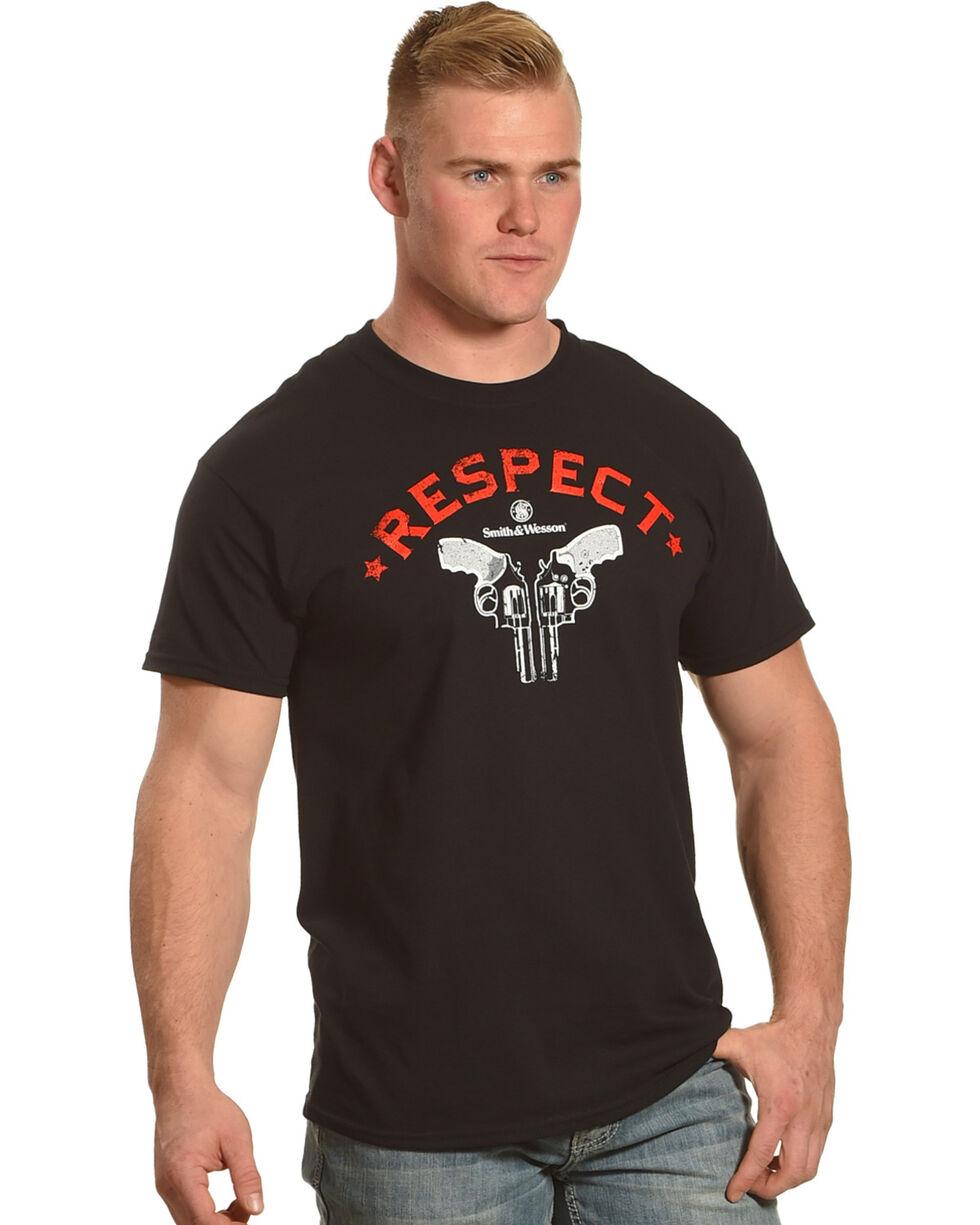 Smith & Wesson Men's Black Old School Respect Tee , Black, hi-res