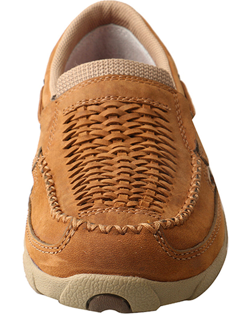 Twisted X Women's Slip On Driving Mocs - Moc Toe, Lt Brown, hi-res