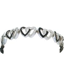 Montana Silversmiths Women's Double Heart Bracelet, , hi-res