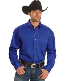Ariat Men's Solid Long Sleeve Western Shirt, , hi-res