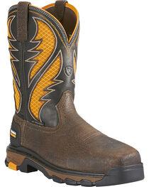 Ariat Men's Intrepid VentTEK Comp Toe Pull-On Safety Work Boots, , hi-res