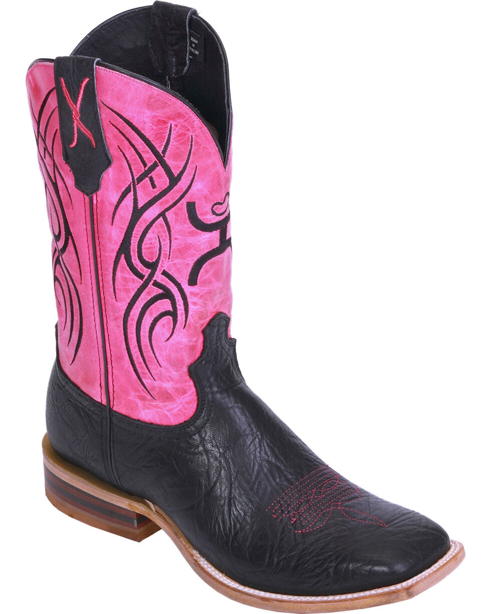 HOOey by Twisted X Women's Square Toe Western Boots, Black, hi-res
