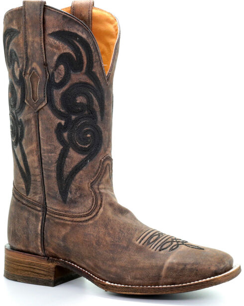 Corral Men's Rugged Embroidered Western Boots, Brown, hi-res