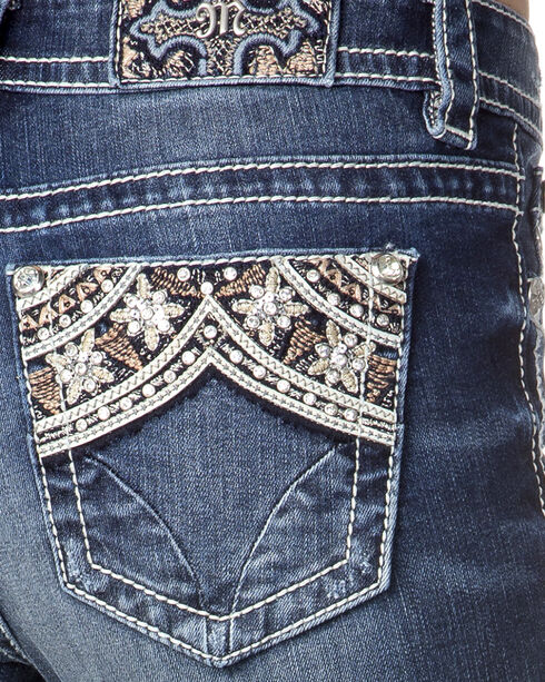 Miss Me Women's Indigo Embellished Pocket Jeans - Skinny , , hi-res