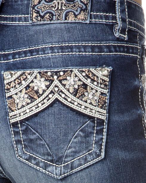 Miss Me Women's Indigo Embellished Pocket Jeans - Skinny , Indigo, hi-res