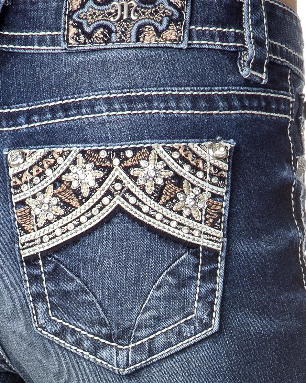 Miss Me Women's Indigo Embellished Pocket Jeans - Skinny , , hi-res