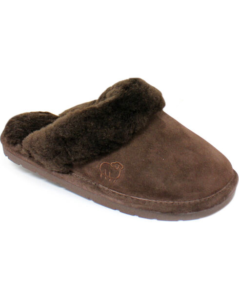 Lamo Dije California Women's Scuff Slippers , Chocolate, hi-res